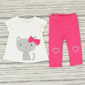 FIRST IMPRESSIONS set, girl's size 6-9M